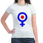 Mod Female Symbol Jr. Ringer T-Shirt
