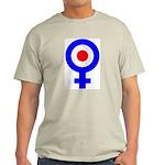 Mod Female Symbol Ash Grey T-Shirt