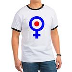 Mod Female Symbol Ringer T