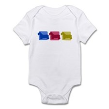 Color Row Sealyham Terrier Baby Bodysuit