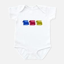 Color Row Sealyham Terrier Baby Bodysuit