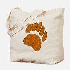 GOLDEN SPECK BEAR PAW Tote Bag