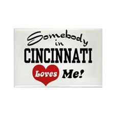 Somebody in Cincinnati Loves Me Rectangle Magnet