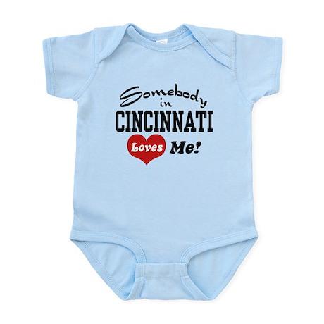 Somebody in Cincinnati Loves Me Infant Bodysuit
