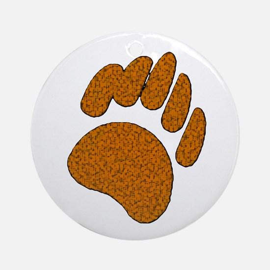 GOLDEN SPECK BEAR PAW Ornament (Round)
