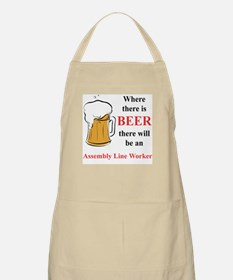 Assembly Line Worker BBQ Apron