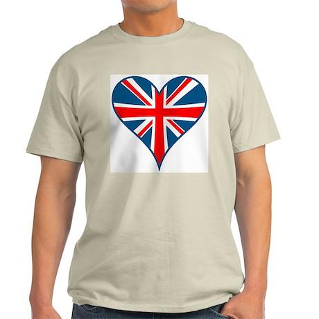 Union Jack Heart Ash Grey T-Shirt