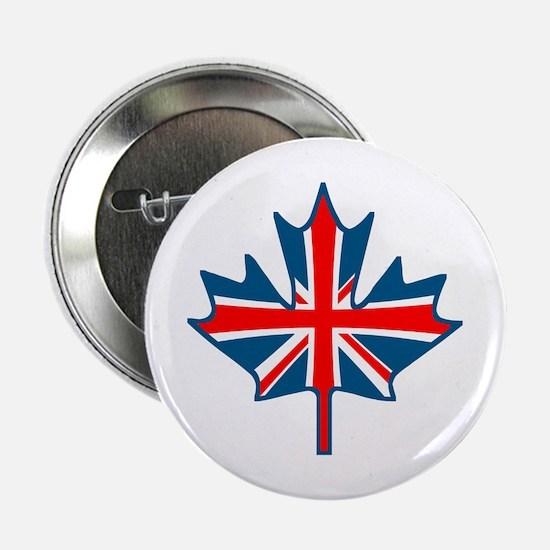 Union Jack Maple Leaf Button