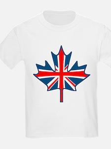 Union Jack Maple Leaf Kids T-Shirt