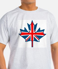 Union Jack Maple Leaf Ash Grey T-Shirt