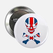 Union Jack Skull & Cross Bones Button
