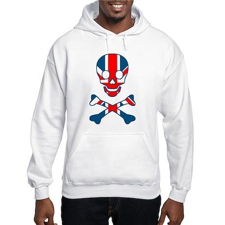 Union Jack Skull & Cross Bones Hooded Sweatshirt