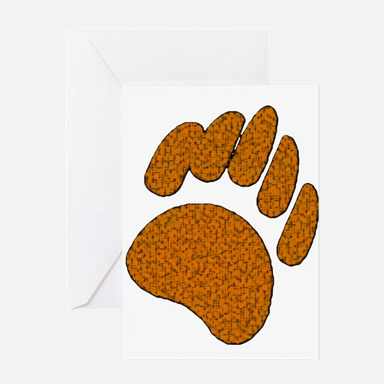 GOLDEN SPECK BEAR PAW/WOOF Greeting Card