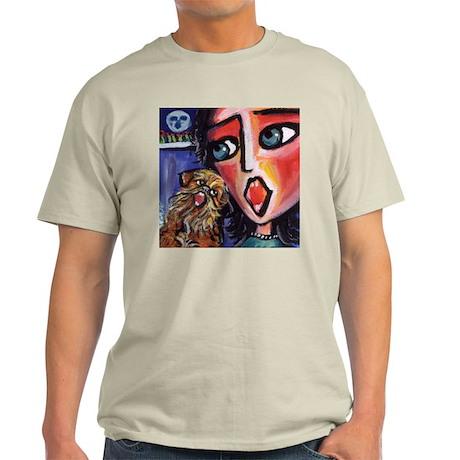 BRUSSELS GRIFFON sings along Ash Grey T-Shirt
