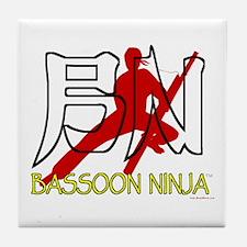 Bassoon Ninja Tile Coaster