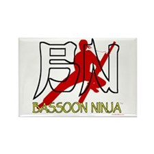 Bassoon Ninja Rectangle Magnet