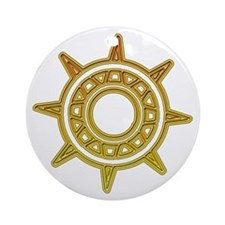 Ancient Golden Compass Ornament (Round)