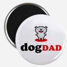 """Dog Dad 2.25"""" Magnet (100 pack)"""