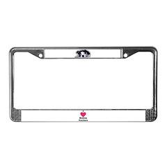 BOSTON TERRIER SWEET DOG License Plate Frame