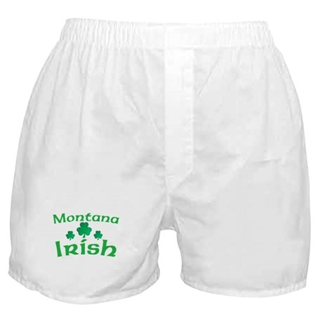 Montana Irish Shamrocks Boxer Shorts