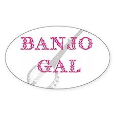 Banjo Gal Oval Decal