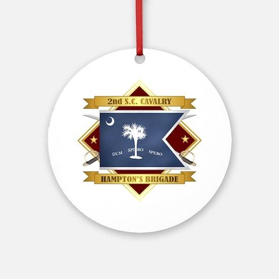 2nd South Carolina Cavalry Round Ornament