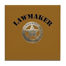 Sheriff of Deadwood Tile Coaster