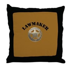 Sheriff of Deadwood Throw Pillow