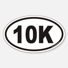 10K Euro Style Oval Decal