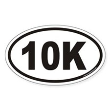 10K Euro Style Oval Stickers