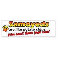 Potato Chips Samoyed Bumper Bumper Sticker