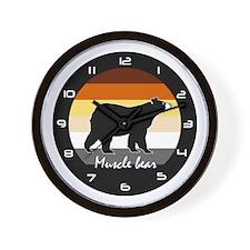 MUSCLE BEAR Wall Clock