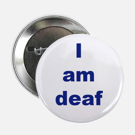 "Cute Deaf 2.25"" Button"