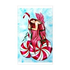 Christmas Fairy Minty Winter Rectangle Decal