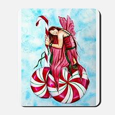 Christmas Fairy Minty Winter Mousepad