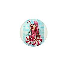 Christmas Fairy Minty Winter Mini Button