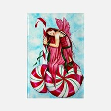 Christmas Fairy Minty Winter Rectangle Magnet