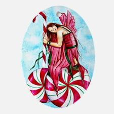 Christmas Fairy Minty Winter Oval Ornament