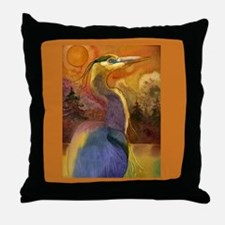 Gold Moon Landscape and Great Throw Pillow