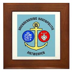 Antwerpen Politie Framed Tile