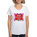 Happy Valentine's Day! Women's V-Neck T-Shirt