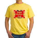 Happy Valentine's Day! Yellow T-Shirt