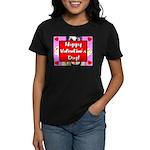 Happy Valentine's Day! Women's Dark T-Shirt