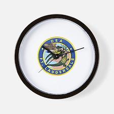 D.E.A. Ft. Lauderdale Wall Clock