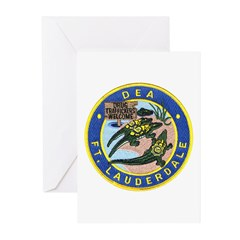 D.E.A. Ft. Lauderdale Greeting Cards (Pk of 20)