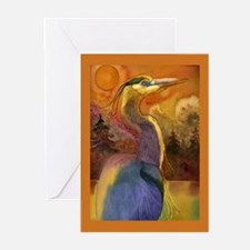 Gold Moon Landscape and Great Greeting Cards (Pk o