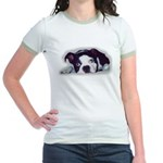 boston terrier sweet dog  Jr. Ringer T-Shirt