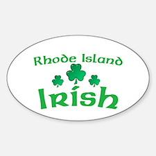 Rhode Island Irish Shamrocks Oval Decal