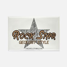 Geology Rock Star Rectangle Magnet