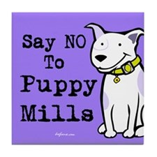No Puppy Mills Tile Coaster
